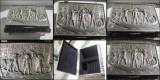 7087-EGYPT-Caseta Bijuterii vintage metal staniu.