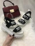Sandale dama negre cu platforma marime 38, 39, 40+CADOU