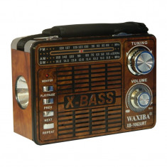 Radio portabil Waxiba XB-1062URT, suport card SD/USB