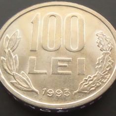 Moneda 100 LEI - ROMANIA, anul 1993 *cod 4496  - A.UNC