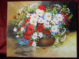 Simfonia florilor de camp-pictura ulei pe panza, Flori, Altul