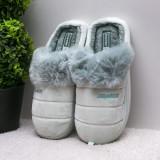 Papuci dama de casa verzi Delisia-rl