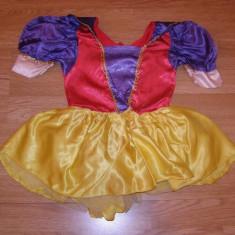 costum carnaval serbare alba ca zapada pentru copii de 4-5-6 ani