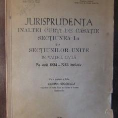 JURISPRUDENTA INALTEI CURTI DE CASATIE 1934-1943