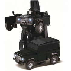 Land Rover Transformer Die Cast 1:32 RTR AA baterie - Negru