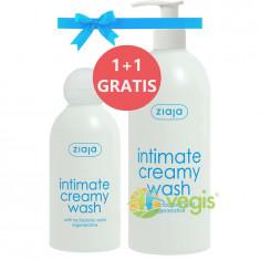 Pachet 1+1 Ziaja Intimate Cu Acid Lactobionic: Lotiune Calmanta Pentru Igiena Intima 500ml + 200ml Gratis