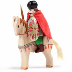 Jucarie din lemn Set Mihai Viteazul si calul de lupta