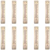 10 x Termometru de exterior, Din lemn, Gradatie Celsius & Fahrenheit