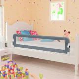 VidaXL Balustradă de protecție pat copii, gri, 120 x 42 cm, poliester
