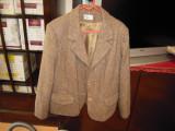 Sacou de dama din lana marimea 48 culoare maro