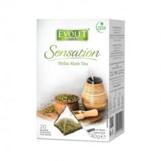 Ceai Yerba Mate Tea, Evolet Sensation piramida 20 plicuri