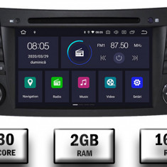 Navigatie Mercedes Benz E Class W211 CLS W219 Android 9 QUADCORE PX30 2GB RAM + 16GB ROM cu DVD 7 Inch AD BGWMBW211P3