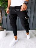 Pantaloni VAGABOND - de trening pentru barbati - slim fit - negri - A6318
