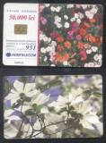 Romania 2001 Telephone card Flowers Rom 116 CT.053