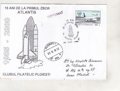 bnk fil Plic ocazional 15 ani primul zbor Atlantis Ploiesti 2000 foto