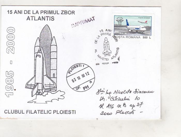 bnk fil Plic ocazional 15 ani primul zbor Atlantis Ploiesti 2000