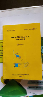 TERMODINAMICA TEHNICA FLORIAN IVAN RODICA NICULESCU foto