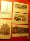 Set 9 Ilustrate Belgia francate si circulate 1899 - Litografii