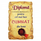 Magnet Diploma pentru cel mai bun CUMNAT din lume, lemn, Alexer