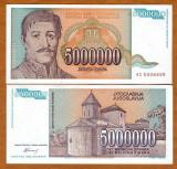 = IUGOSLAVIA – 5 000 000 DINARA – 1993 – UNC   =