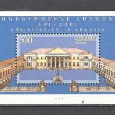 Armenia.1997 1700 ani religia de stat crestina-Bl.  SA.735