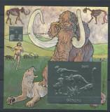 GUYANA 1994 ANIMALE PREISTORICE DINOZAURI MAMUTI  AURIU