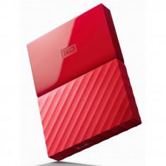 Hard Disk Extern WD My Passport. 4TB. USB 3.0. Rosu