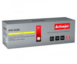 Cartus toner compatibil CC532A Yellow pentru HP 304A, Premium Activejet, Garantie 5 ani