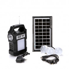 Kit Panou solar fotovoltaic 4 becuri BLUETOOTH radio mp3 incarcare telefoane