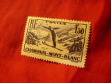 Serie Franta 1937 - Campionat Mondial SKI Chamonix ,urma sarniera