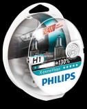 Set 2 becuri Philips H1 X-tremeVision Plus (+130% lumina) 12V 55W 12258XVS2