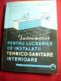 N.Niculescu-Indrumator pt.Instalatii Tehnico-Sanitare Interioare 1963 Ed.Tehnica