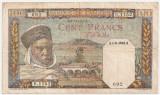 ALGERIA 100 FRANCS 1942 F