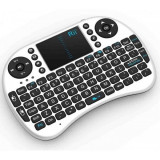 Mini tastatura wireless, cu touchpad, pentru Smart TV XBox, PS, PC, Notebook , Alb Rii