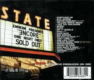 CD Eminem – Encore, original, holograma