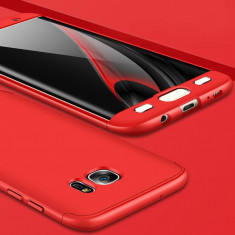 Husa Samsung Galaxy S7 Edge - GKK Protectie 360° Rosie