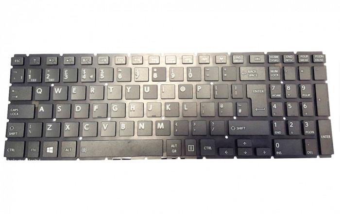 Tastatura Laptop, Toshiba, Satellite C55-C, fara rama, neagra, UK