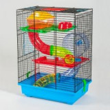 TEDDY II - cuşcă pentru hamster, cu tunel