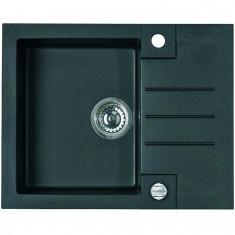 Chiuveta bucatarie compozit granit Alveus Rock 30 A91, 59.5 x 47.5 cm neagra