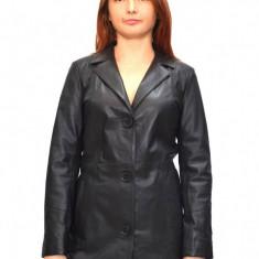 Haina dama, din piele naturala, marca Kurban, Z9-01-95, negru , marime: S