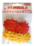 Flori din pasla 2.5 cm Daco