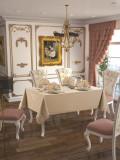 Față de masă Valentini Bianco, 160×220 cm, Model Gold Collection Cappucinno
