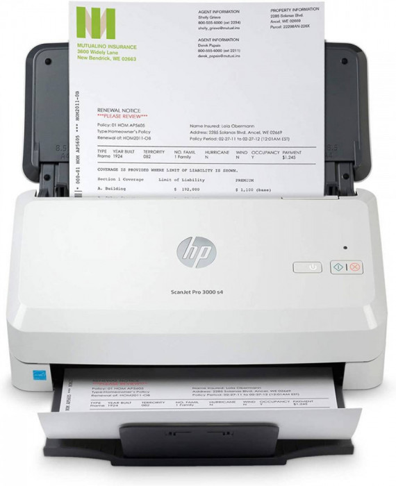 Scanner HP Scanjet Pro 2000 S2 USB A4 Alb