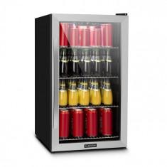 Klarstein BEERSAFE 4XL, frigider, pentru băuturi, 124 l, 0-10 ° C, sticlă, A +, oțel inoxidabil