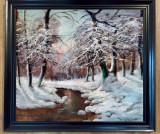 Tablou peisaj de iarna  Neogrady Laszlo, Peisaje, Ulei, Altul
