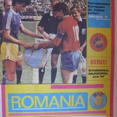 Program meci fotbal Romania-Austria  (01 noiembrie 1989)