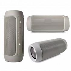 Boxa portabila wireless bluetooth cu port USB si slot card SD, Charge 2+, rezistenta la apa, Culoare Argintiu