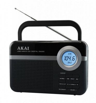 Radio portabil Akai PR006A-471U FM Negru foto
