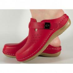 Saboti/Papuci medicinali rosii gel pe talpa 154149F