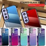 Husa Gradient din sticla Samsung Galaxy S21 , S21+ , S21 Plus , S21 Ultra 5G, Alt model telefon Samsung, Gel TPU
